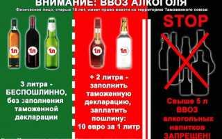 Нормы провоза алкоголя в россию