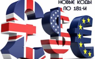 Код валютной операции 20200 расшифровка