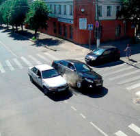 Обгон на перекрестке равнозначных дорог